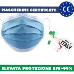 mascherine made in Italy certificate