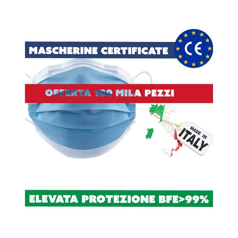 mascherine made in Italy 100 mila pezzi